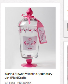 Valentine S Day Apothecary Jars The Pinterest Project
