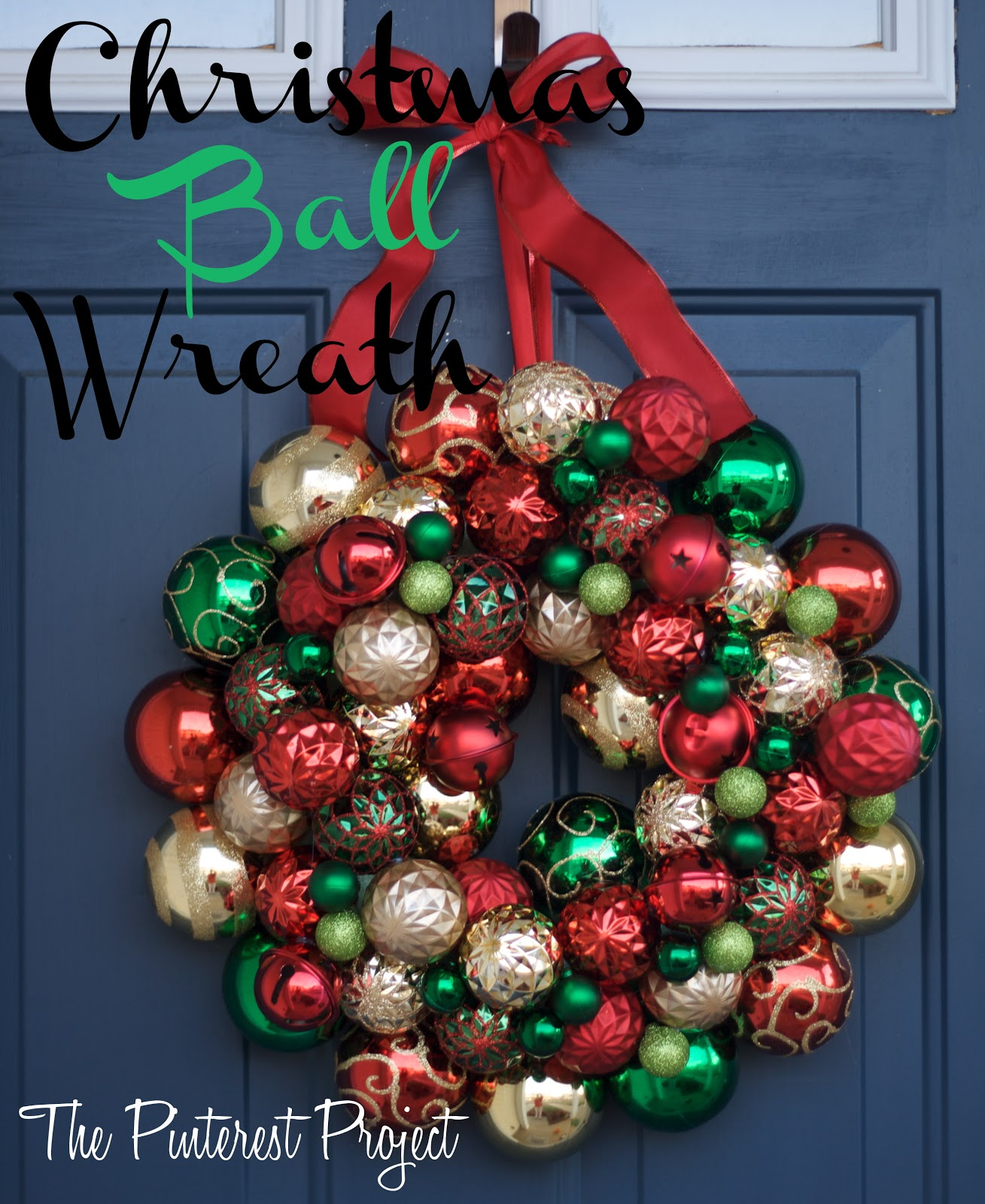a christmas y christmas ball wreath - Christmas Ball Wreath