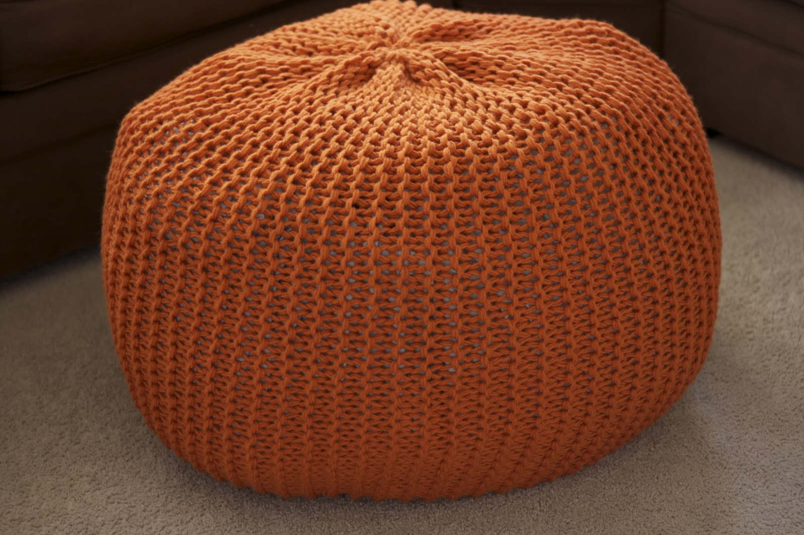 Orange Accessories Living Room Pouf A New Coffee Table The Pinterest Project
