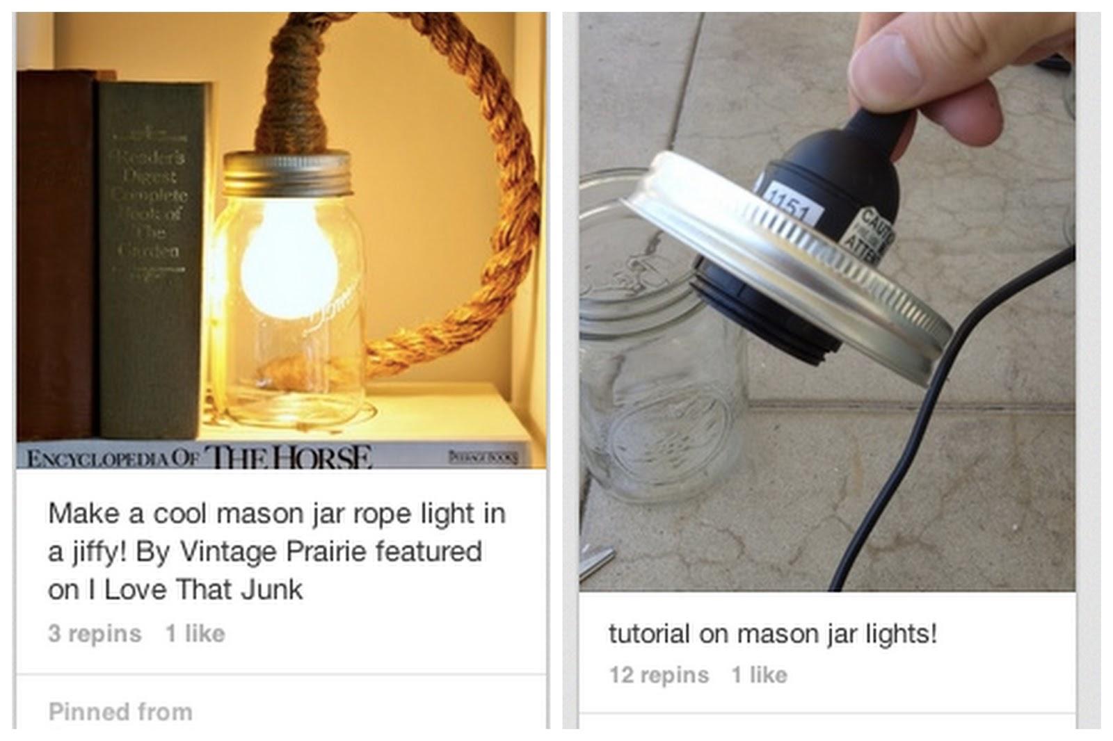rope mason jar lights. DIY Mason Jar Light Rope Lights T