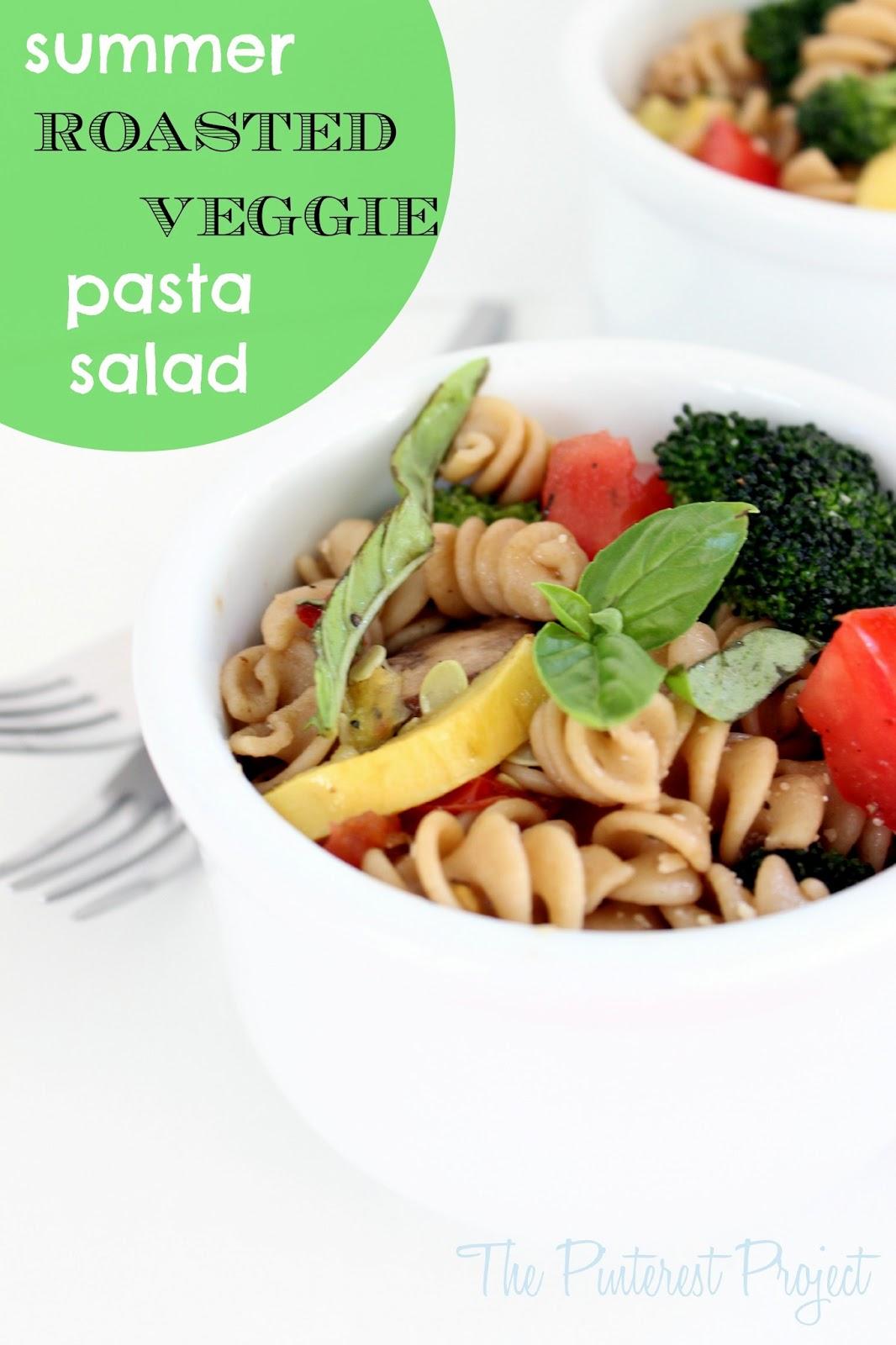 Roasted Veggie Pasta Salad | The Pinterest Project