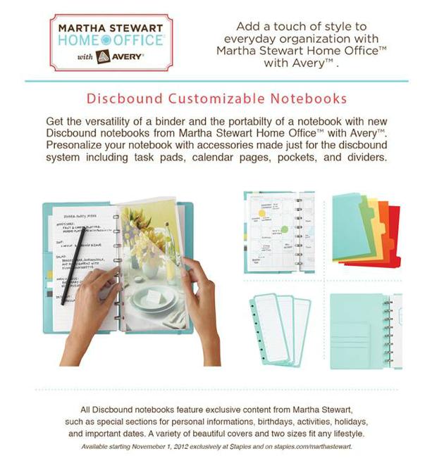 Martha Stewart Home Office: Martha Stewart Home Office Discbound Notebook Review