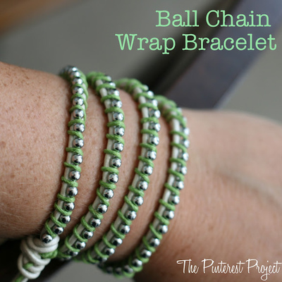 DIY Ball Chain Wrap Bracelet