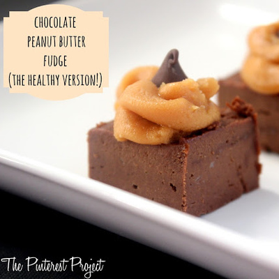 Quick, Easy (& healthy?) Chocolate Peanut Butter Fudge